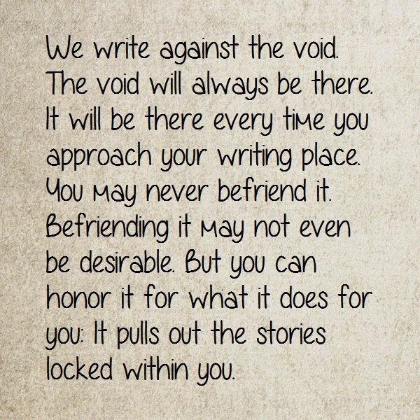 wewriteagainst the void